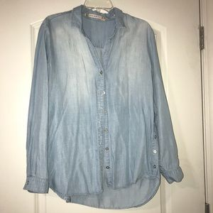 Chelsea and Violet Denim Button-down